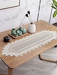 cheap -Lace Table Ruinner Dust-proof Elegant Classic Table Cover Stai-proof Washable Oblong Table Cover for Kitchen Family Holiday