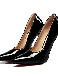 cheap -Women's Heels Stiletto Heel Pointed Toe Daily PU Synthetics Almond Black Red