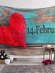 cheap -Valentine's Day Wall Tapestry Art Decor Blanket Curtain Hanging Home Bedroom Living Room Decoration Heart Rose