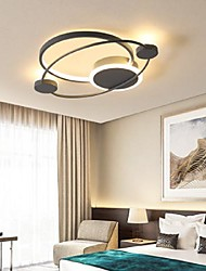cheap -55/65 cm Dimmable Single Design Flush Mount Lights Metal Acrylic Painted Finishes Artistic LED 110-120V 220-240V