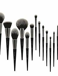 cheap -makeup brush set makeup brush set 15pcs black natural synthetic hair make up brush tools kit professional makeup brushes. (handle color : 15pcs brush set)