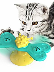 cheap -windmill cat toy puzzle rotating turntable with brush cat play game toy windmill kitten interactive tickling toy pet supplies-c
