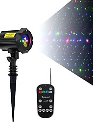 cheap -3 Color Motion Laser  Lights Projector with RF Remote and Security Lock Outdoor Garden Laser Lights Moving RGB Stars ( Firefly Red, Green, and Blue )