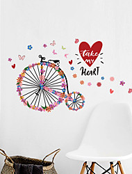 cheap -valentine's day butterfly wreath bicycle background decoration for valentine's day romantic wedding can remove wall stickers