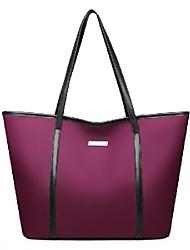 cheap -Women's Bags PU Leather Tote Top Handle Bag Zipper Daily Outdoor Handbags Baguette Bag White Black Blue Purple