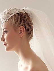 cheap -Two-tier Stylish Wedding Veil Elbow Veils with Sparkling Glitter / Crystals / Rhinestones Lace / Tulle