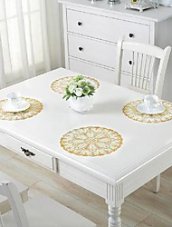 cheap -placemats set of 4, heat-resistant woven vinyl placemat, non-slip washable pvc table mat, easy to clean premium plastic round table mats for dining table, kitchen table