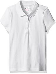 cheap -girls' uniform pique polo white 62771 x-small/4