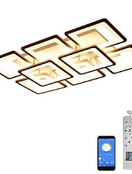 cheap -5/8 heads led ceiling light modern square design includes app control remote control stepless dimming living room dining room bedroom light simplicity acrylic 90w