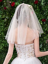 cheap -Two-tier Stylish / Basic Wedding Veil Shoulder Veils with Print 19.69 in (50cm) Tulle