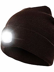 cheap -led beanie hat with light, knit hat with light rechargeable hands free headlamp cap for hunting camping grilling running