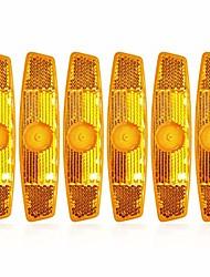 cheap -bicycle reflectors set-6pcs bicycle wheel spoke reflectors reflective safe mountain road yellow