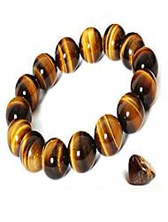 cheap -women's & men's bracelet tiger eye bracelet stretch bracelet good luck bracelet beads 6mm-18mm (10mm)