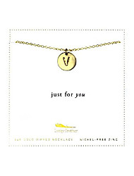 cheap -14k gold dipped personalized initial necklace a - z letter disc necklace for women