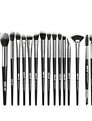 cheap -18pcs premium foundation powder concealers eye shadows makeup brush sets with soft and comfortable touch feeling (black)