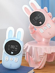 cheap -children's walkie-talkie cartoon rabbit handheld wireless communication 3 km parent-child educational interactive toy