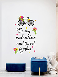 cheap -romantic valentine's day background decorations can be decorated with stickers