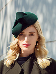 cheap -Headwear Elegant Wool Hats with Solid 1pc Party / Evening / Daily Wear Headpiece