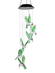 cheap -sinloog color-changing led solar mobile wind chime, solar powered led hanging lamp wind chime light wind chimes for outdoor indoor gardening lighting decoration home (hummingbird)