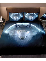 cheap -wolf print 3-piece duvet cover set hotel bedding sets comforter cover with soft lightweight microfiber, include 1 duvet cover, 2 pillowcases for double/queen/king(1 pillowcase for twin/single)