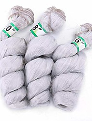 """cheap -loose wave hair styling 3 bundles weave brazilian hair extension - silver grey (16"""" 18"""" 20"""") (color : silver grey, size : 16""""-16""""-16"""")"""