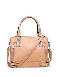 cheap -fashion women tote large handbag shoulder bag crossbody bag waterproof pu leather yellow