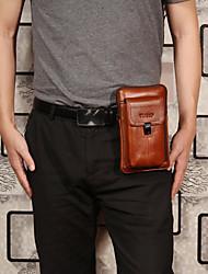 cheap -men genuine leather waist bag shoulder bag phone bag