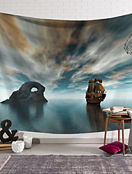 cheap -wall tapestry art decor blanket curtain hanging home bedroom living room decoration pirate ship island polyester