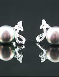 cheap -Women's Stud Earrings Geometrical Lucky Pearl Earrings Jewelry Ash / skin / White For Wedding Daily