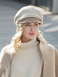 cheap -Headwear Synthetics / Wool / Acrylic / synthetic fibre Hats with Plaid / Solid 1pc Casual / Daily Wear Headpiece