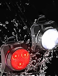 cheap -LED Bike Light LED Light Bike Glow Lights Tail Light Bicycle Cycling Lightweight Rechargeable Battery USB 50 lm Batteries Powered USB Port White Red Cycling / Bike / Aluminum Alloy