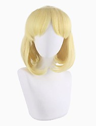 cheap -Cosplay Wig Maria Curly Bob With Bangs Wig Short Blonde Synthetic Hair 16 inch Women's Anime Cosplay Easy to Carry Blonde
