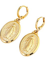 cheap -gold color our lady women goddess jewelry wholesale cross virgin mary pendant necklaces (gold earrings)