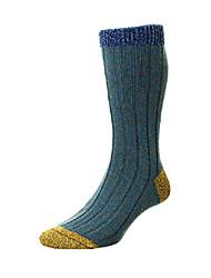 cheap -the burghley warm men's wool boot sock in petrol | by scott-nichol