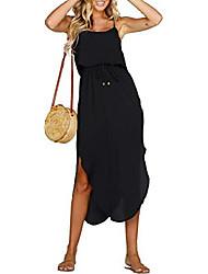 cheap -ladies summer dress spaghetti strap boho long casual elegant dresses party dress beach dress