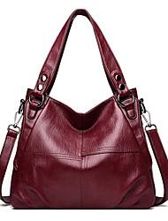 cheap -Women's Bags PU Leather Leather Top Handle Bag Zipper Daily Outdoor Handbags Baguette Bag Black Blue Purple Green