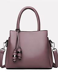cheap -Women's Bags PU Leather Satchel Top Handle Bag Zipper Daily Outdoor Handbags Baguette Bag Black Purple Red Green