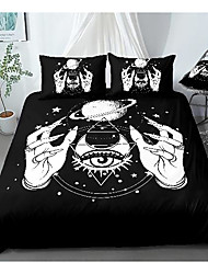 cheap -tarot print 3-piece duvet cover set hotel bedding sets comforter cover with soft lightweight microfiber, include 1 duvet cover, 2 pillowcases for double/queen/king(1 pillowcase for twin/single)