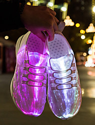 cheap -Unisex Sneakers Light Up Shoes Casual Daily Walking Shoes Knit Breathable White Black Pink Fall Spring