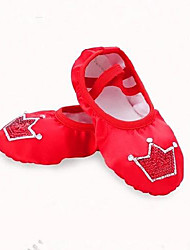 cheap -Girls' Ballet Shoes Ballroom Shoes Flat Paillette Flat Heel Red Pink