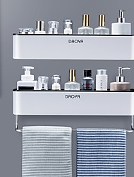 cheap -bathroom shelf shower caddy organizer wall mount shampoo rack with towel bar no drilling kitchen storage bathroom accessories
