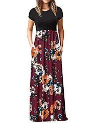 cheap -Women's Shift Dress Maxi long Dress Stripe Wine Red sunflower kaleidoscope Blue Black Short Sleeve Spring Casual / Daily 2021 S M L XL 2XL 3XL / Cotton / Cotton
