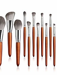 cheap -12pcs professional makeup brush set with bag natural brush big loose powder foundation contour eye cosmetic make up tools makeup brushes (color : 12pcs only)