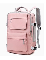 cheap -Women's Unisex Oxford Cloth Special Material Commuter Backpack Large Capacity Waterproof Zipper Solid Color Sports & Outdoor Daily Backpack Black Purple Blushing Pink Gray