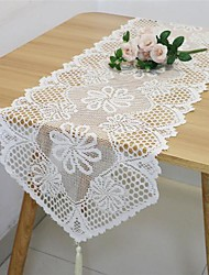 cheap -Table Runner Hollow Out Lace Tasse Dust-proof Classic Table Cover Table Cloth Stain-proof Washable Decorative Oblong Table cover for Kitchen Dining Room