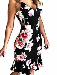 cheap -kimodo women's holiday dresses sexy print sleeveless hole camisole mini dress summer dress black