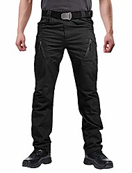 cheap -men's military trousers outdoor hiking hunting pants security utility trousers elastic waist black