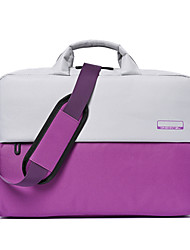 cheap -Unisex Polyester Laptop Bag Zipper Color Block Daily Office & Career Black Purple Dark Blue Gray