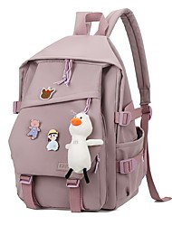 cheap -Women's Unisex Oxford Cloth Special Material School Bag Rucksack Commuter Backpack Large Capacity Waterproof Zipper Solid Color Daily Sports Backpack White Black Blue Purple Red