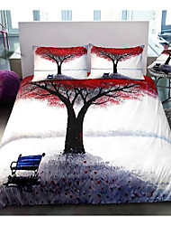 cheap -tree print 3-piece duvet cover set hotel bedding sets comforter cover with soft lightweight microfiber, include 1 duvet cover, 2 pillowcases for double/queen/king(1 pillowcase for twin/single)